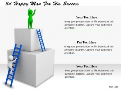 Business Strategy Consultant 3d Happy Man For His Success Adaptable Concepts