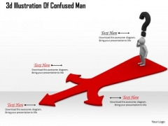 Business Strategy Consultant 3d Illustration Of Confused Man Adaptable Concepts