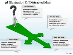 Business Strategy Consultant 3d Illustration Of Distracted Man Adaptable Concepts