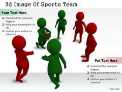 Business Strategy Consultant 3d Image Of Sports Team Concept Statement