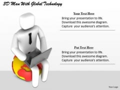 Business Strategy Consultant 3d Man With Global Technology Character Modeling