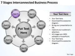Business Strategy Consultant 7 Stages Interconnected Process Ppt PowerPoint