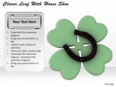 Business Strategy Consultant Clover Leaf With Horse Shoe Images