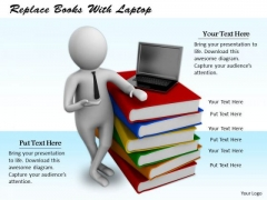 Business Strategy Consultant Replace Books With Laptop 3d Character Models