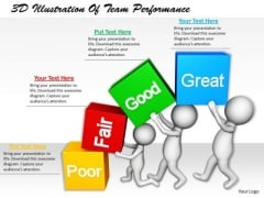 Business Strategy Consultants 3d Illustration Of Team Performance Concepts
