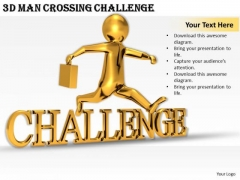 Business Strategy Consultants 3d Man Crossing Challenge Concept