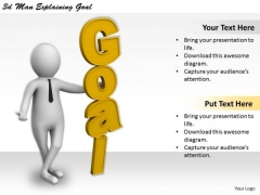 Business Strategy Consultants 3d Man Explaining Goal Concept