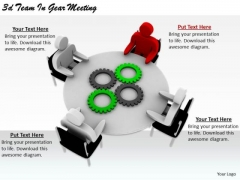 Business Strategy Consultants 3d Team Gear Meeting Basic Concepts
