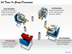 Business Strategy Consultants 3d Team Group Discussion Basic Concepts