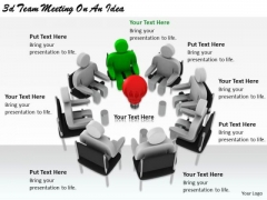 Business Strategy Consultants 3d Team Meeting Idea Basic Concepts