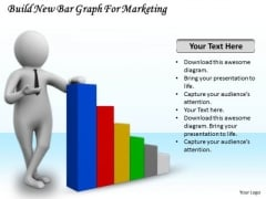 Business Strategy Consultants Build New Bar Graph For Marketing 3d Character Modeling