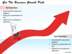 Business Strategy Consultants Get The Growth Path 3d Character