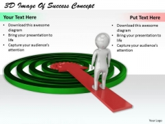 Business Strategy Consulting 3d Image Of Success Concept Character