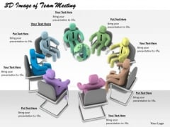 Business Strategy Consulting 3d Image Of Team Meeting Character