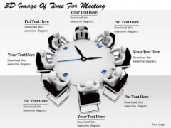 Business Strategy Consulting 3d Image Of Time For Meeting Character