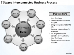Business Strategy Consulting 7 Stages Interconnected Process Ppt PowerPoint