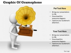 Business Strategy Consulting Graphic Of Gramophone 3d Character Models