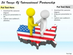 Business Strategy Development 3d Image Of International Partnership Adaptable Concepts