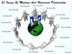 Business Strategy Development 3d Image Of Meeting And Universal Partnership Adaptable Concepts