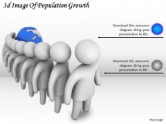Business Strategy Development 3d Image Of Population Growth Adaptable Concepts