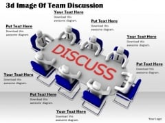 Business Strategy Development 3d Image Of Team Discussion Concepts