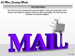 Business Strategy Development 3d Man Sending Mails Character Models