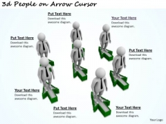 Business Strategy Development 3d People On Arrow Cursor Concept Statement