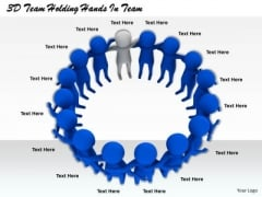 Business Strategy Examples 3d Team Holding Hands Adaptable Concepts