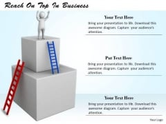 Business Strategy Examples Reach On Top 3d Characters