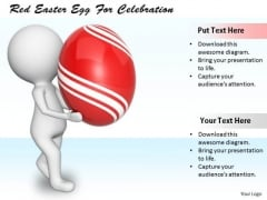 Business Strategy Examples Red Easter Egg For Celebration 3d Characters