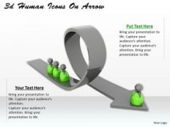 Business Strategy Execution 3d Human Icons Arrow Character Models