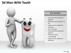 Business Strategy Execution 3d Man With Tooth Concepts