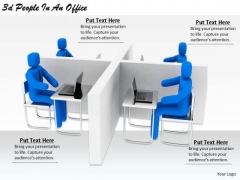 Business Strategy Execution 3d People An Office Concept Statement