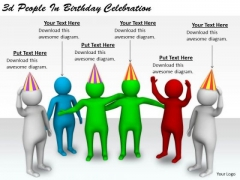 Business Strategy Execution 3d People Birthday Celebration Concept Statement