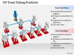 Business Strategy Execution 3d Team Taking Positions Concept Statement