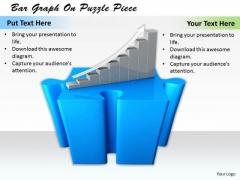 Business Strategy Execution Bar Graph Puzzle Piece Concept Statement