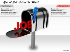Business Strategy Execution Got Job Letter Mail Concept Statement