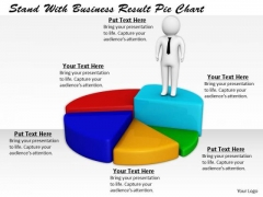 Business Strategy Execution Stand With Result Pie Chart Basic Concepts