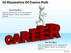 Business Strategy Formulation 3d Illustration Of Career Path Character Models