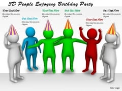 Business Strategy Formulation 3d People Enjoying Birthday Party Basic Concepts