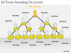 Business Strategy Formulation 3d Team Standing Levels Character