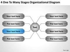 Business Strategy Formulation Many Stages Organizational Diagram Creative Marketing Concepts