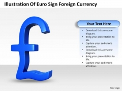 Business Strategy Illustration Of Euro Sign Foreign Currency Image
