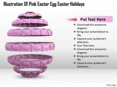 Business Strategy Illustration Of Pink Easter Egg Holidays Image