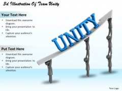 Business Strategy Implementation 3d Illustration Of Team Unity Character Modeling