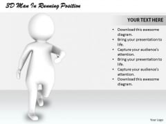 Business Strategy Implementation 3d Man Running Position Characters