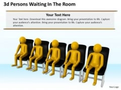 Business Strategy Implementation 3d Persons Waiting The Room Concept