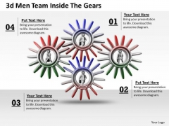 Business Strategy Implementation 3d Team Inside The Gears Concept