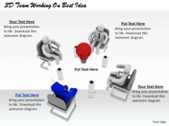 Business Strategy Implementation 3d Team Working Best Idea Basic Concepts