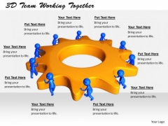 Business Strategy Implementation 3d Team Working Together Basic Concepts